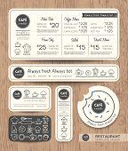 stock photo of cafe  - Restaurant Cafe Set Menu Graphic Design Template layout - JPG