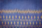 foto of northeast  - Close up Thai style handcrafted textile made by silk from northeast Thailand - JPG