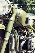 picture of veterans  - One chrome veteran motorbike - JPG