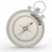 stock photo of trustworthiness  - Reliability compass image with hi - JPG