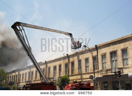 poster of Boom Of A Firetruck During Fire In The City