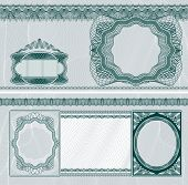 Diseño de billete en blanco