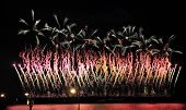 Постер, плакат: Fireworks Over The City Of St Petersburg On The Feast Of scarlet Sails
