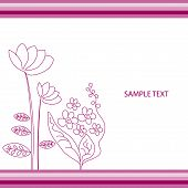 The Abstract Floral Background.