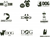 Vector collection of dog logo. poster