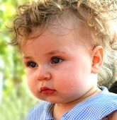 stock photo of baby toddler  - cute baby face - JPG