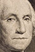 Washington, em um extremo de Bill $1 Close-Up