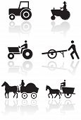 Farmer symbol vector set.