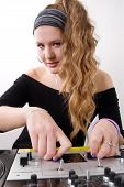 Young Female Dj Playing