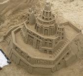 Castelo de areia grande