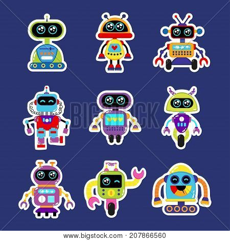 Fashion Patch Badges With Robot Robotics Android Toy Robot With Cute