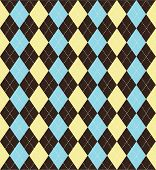 Seamless tiled argyle patterned background