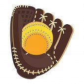 Baseball Glove Brown poster