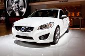 Moscow, Russia - August 25: White Car Volvo C30  At Moscow International Exhibition Interauto On Aug