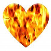 Burning Love Heart