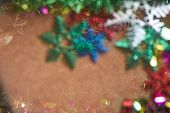 Blur Christmas Tree With Abstract Style poster