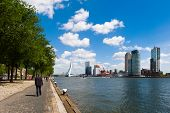 The river Maas in Rotterdam