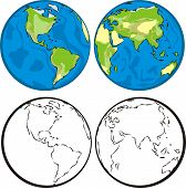 image of eastern hemisphere  - eastern and western hemisphere  - JPG