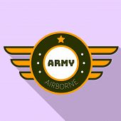 Army Airborn Logo. Flat Illustration Of Army Airborn Vector Logo For Web Design poster
