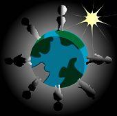Earth Blackout Illustration