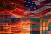 Usa And China Trade War Economy Conflict Tax Business Finance Money / United States Raised Taxes Of  poster