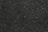Asphalt Textured Background. Dark Asphalt Surface Texture. Abstract Close-up Of Black Backdrop. Patt poster