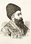 Porträt von Jakub Chan, Emir von Afghanistan. Illustration von Alwin Zschiesche, veröffentlicht am