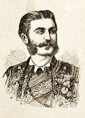 Portrait von Nikola i., König von Montenegro. Illustration von Alwin Zschiesche, veröffentlicht am