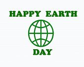 Happy Earth Day. Eco Friendly Concept.  Illustration. Earth Day Concept. World Environment Day Backg poster