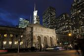 New York Public Library In The Dusk, Manhattan, New York