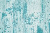 Turquoise Paint Stains On White Canvas. Abstract Light Green Pattern Of Watercolor. Illustration Wit poster