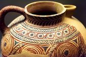 Jug From The Excavations In Greece. Painted Archeological Pottery. Remains Of Ancient Greek Culture. poster