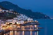 Amalfi at night, Italy