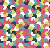Seamless Arrow Geometric Pattern. Seamless Abstract Triangle Geometrical Background. Infinity Geomet poster