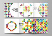 The Minimal Vector Layout Of Square Format Covers Design Templates For Trifold Brochure, Flyer, Maga poster