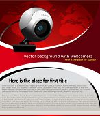 vector background with web camera for text