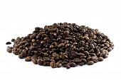 Nice Pile Of Coffee Beans Isolated On White Background