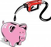 Bomba de gas con Piggybank