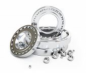 image of bearings  - ball bearing isolated on a white background - JPG