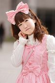 image of lolita  - portrait of japanese sweet lolita cosplay - JPG