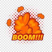 Boom, Comic Book Explosion Icon. Pop Art Illustration Of Boom, Comic Book Explosion Vector Icon For  poster