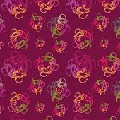 Seamless Background With Varicoloured Abstract Figures