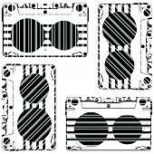 Striped Audio Tapes
