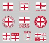Made In England Labels Set, Made In England Product Emblem poster