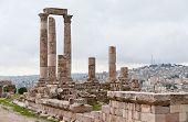 Herkules-Tempel in antike Zitadelle in amman
