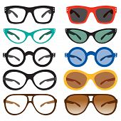 Geek Nerd Glasses Retro Vintage Modern Sunglasses