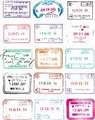 Immigration Passport  Travel Stamps