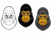 Danger gorilla monkey mascot