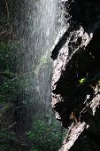 Waterfall Over Rockface