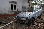 Car In Tsunami Aftermath